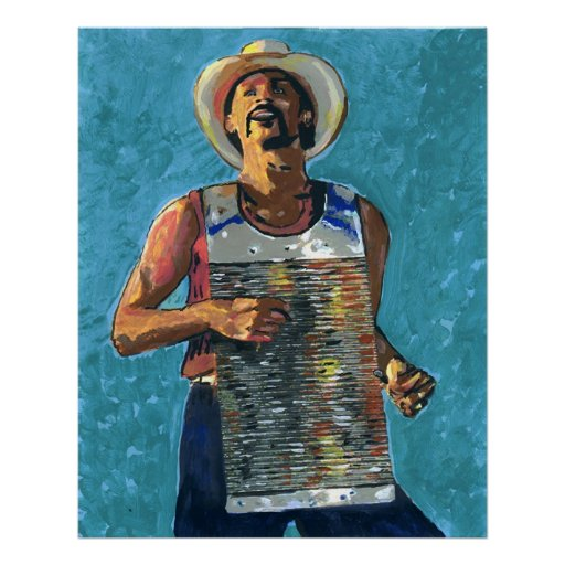 Zydeco Joe Painting Posters