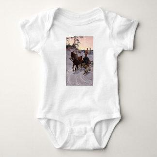 Zygmunt_Ajdukiewicz_Polnische_Schlittenfahrt Baby Bodysuit