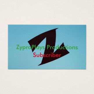 ZyproPlays Subscriber Card
