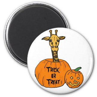 ZZ- Giraffe in a Pumkin Halloween Magnet