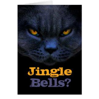 zzCross Cat says Jingle Bells? Cards